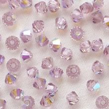 3mm Preciosa Crystal Bicone Light Amethyst AB - 20